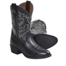 Ariat Heritage Western Boots - R-Toe (For Kids and Youth) in Black - Closeouts