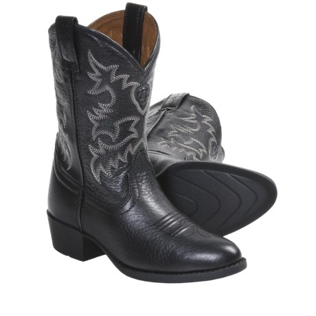 Ariat Heritage Western Boots - R-Toe (For Kids and Youth) in Black