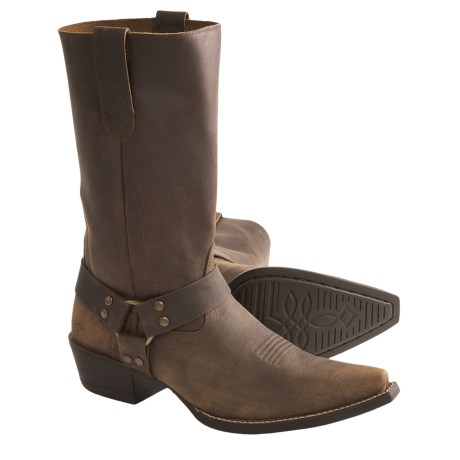 Ariat Hollywood Cowboy Boots - X-Toe, Harness Strap (For Women) in Powder Brown