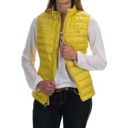 Ariat Ideal Down Vest - Full Zip (For Women) in Limelight - Overstock