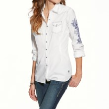 Ariat Iris Western Shirt - Snap Front, Long Sleeve (For Women) in White - Closeouts