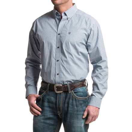 Ariat Jacobson Plaid Shirt - Long Sleeve (For Men) in Blue/Grey - Closeouts