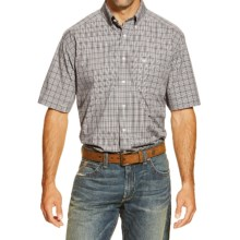 Ariat Jacquez High-Performance Plaid Shirt - Short Sleeve (For Men) in Multi - Closeouts