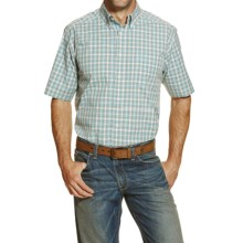 Ariat Jayrus High-Performance Plaid Shirt - Short Sleeve (For Men and Tall Men) in Turquoise - Closeouts