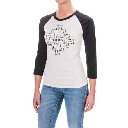 Ariat Jenny T-Shirt - 3/4 Sleeve (For Women) in White - Closeouts