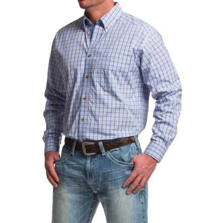 Ariat Jimmy Western Shirt - Button Front, Long Sleeve (For Men) in Noon Sky - Closeouts