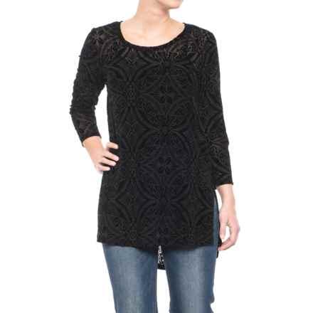 Ariat Kaci Tunic Shirt - 3/4 Sleeve (For Women) in Black - Closeouts