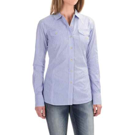 Ariat Keen Shirt - Long Sleeve (For Women) in Blue Stripe - Closeouts