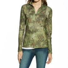Ariat Kryptek Mandrake Fleece Shirt - Zip Neck (For Women) in Olive Mandrake - Closeouts