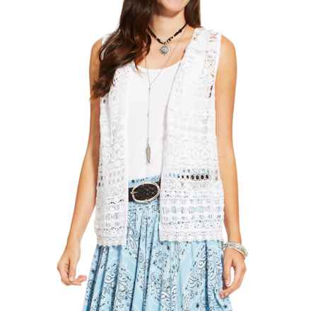 Ariat Lace Vest (For Women) in White - Closeouts