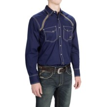 Ariat Lars Shirt - Snap Front, Long Sleeve (For Men) in Evening Navy - Closeouts