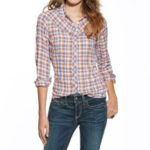 Ariat Lazaro Plaid Shirt - Snap Front, Long Sleeve (For Women) in Purple/Brown - Closeouts