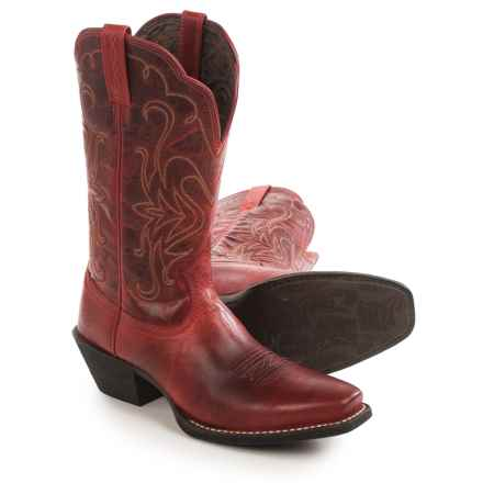 "Ariat Legend 11"" Cowboy Boots - Leather, Square Toe (For Women) in Redwood - Closeouts"