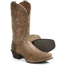 Ariat Legend Cowboy Boots - Leather, Square Toe (For Men) in Roughed Tan - Closeouts