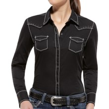 Ariat Leigh Western Shirt - Snap Front, Long Sleeve (For Women) in Black - Closeouts