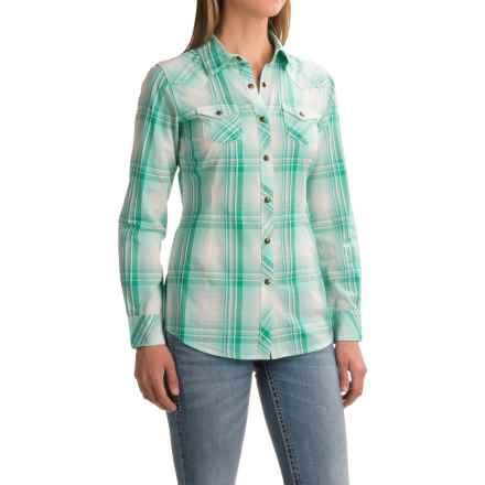 Ariat Maddy Plaid Shirt - Snap Front, Long Sleeve (For Women) in Coolwater - Closeouts