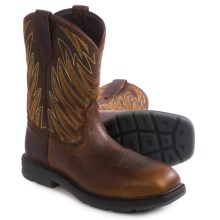 Ariat Maverick Western Work Boots - Leather, Composite Toe (For Men) in Dark Tan - Closeouts