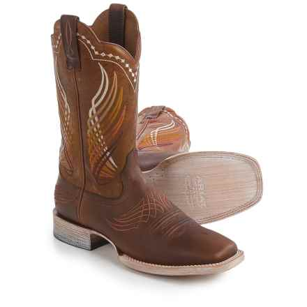 "Ariat Mecate Cowboy Boots - 12"", Wide Square Toe (For Men) in Brown - Closeouts"