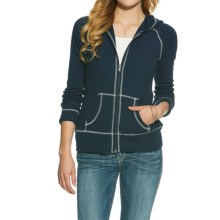 Ariat Miranda Waffle Hoodie - Full Zip (For Women) in Black Iris - Closeouts