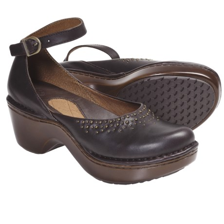 Ariat Misha Ankle-Strap Clogs - Leather (For Women) in Fig