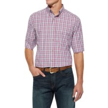 Ariat Nate High-Performance Shirt - Short Sleeve (For Men) in Dahlia - Closeouts