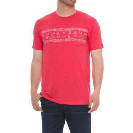 Ariat Native Stripe T-Shirt - Short Sleeve (For Men) in Red Heather - Overstock