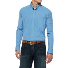 Ariat Neal High-Performance Shirt - Long Sleeve (For Men) in Brilliant Blue - Closeouts