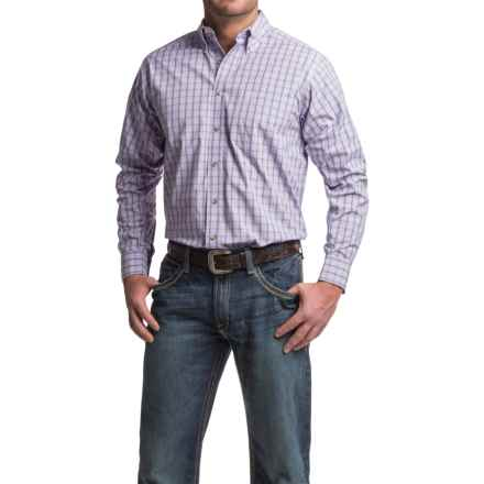 Ariat Odell Plaid Shirt - Long Sleeve (For Men) in Lavanda - Closeouts