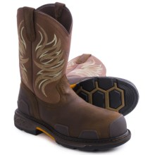 Ariat Overdrive Western Work Boots - Composite Toe (For Men) in Dark Brown/Military - Closeouts