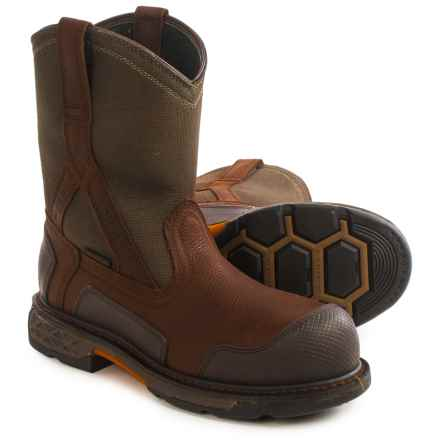 Ariat OverDrive XTR H20 CT Work Boots - Waterproof, Composite Toe (For Men) in Pebbled Brown/Dark Olive - Closeouts