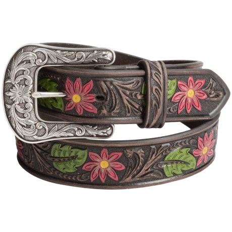 Ariat Painted Floral Embossed Belt Leather For Women