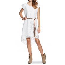 Ariat Paradise Hi-Lo Dress - Short Sleeve (For Women) in White - Closeouts