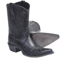 Ariat Pegosa Cowboy Boots - D-Toe, Leather (For Women) in Stone Washed Black - Closeouts