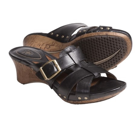 Ariat Portofino Sandals - Leather (For Women) in Black