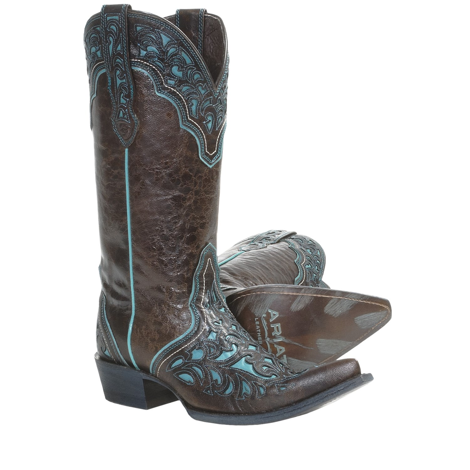 ariat presidio cowboy boots leather for save 36
