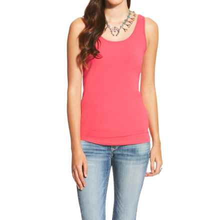 Ariat Prime Tank Top - Stretch Cotton (For Women) in Geranium - Closeouts