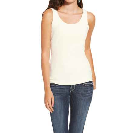 Ariat Prime Tank Top - Stretch Cotton (For Women) in Papyrus - Closeouts