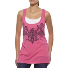 Ariat Printed Lace Tank Top - Scoop Neck (For Women) in Fandango Pink - Closeouts