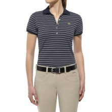 Ariat Prix Stripe Polo Shirt - Short Sleeve (For Women) in Navy - Closeouts