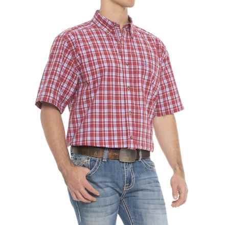 Ariat Pro Series Cedric Shirt - Short Sleeve (For Men) in Brandy Apple - Overstock