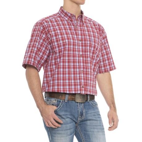Ariat Pro Series Cedric Shirt - Short Sleeve (For Men) in Brandy Apple