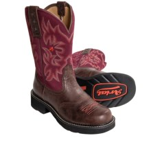 "Ariat Probaby Cowboy Boots - 10"", Round Toe (For Women) in Dark Chocolate/Burgundy - Closeouts"