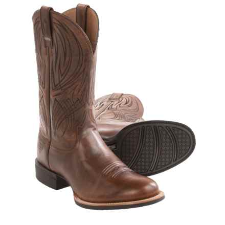 Ariat Quantum Pro Cowboy Boots - Leather, Round Toe (For Men) in Weathered Chestnut - Closeouts