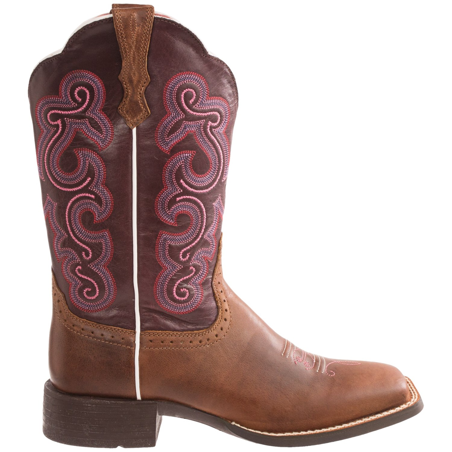 Simple Ariat Womens Quickdraw Square Toe Cowboy Western Boot Badlands Brown 10006304 | EBay