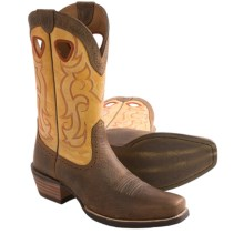 Ariat Rawhide Cowboy Boots - Leather, Square Toe  (For Men) in Earth/Seashell - Closeouts
