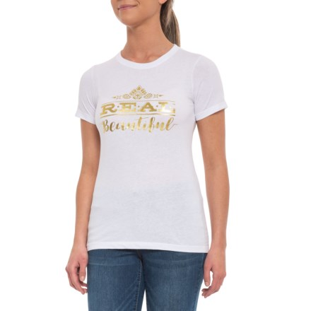 9a2d249ee71 Ariat Real Beautiful T-Shirt - Short Sleeve (For Women) in White -