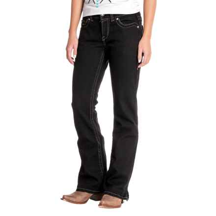 Ariat Real Riding Jeans - Mid Rise, Bootcut (For Women) in Black - Closeouts