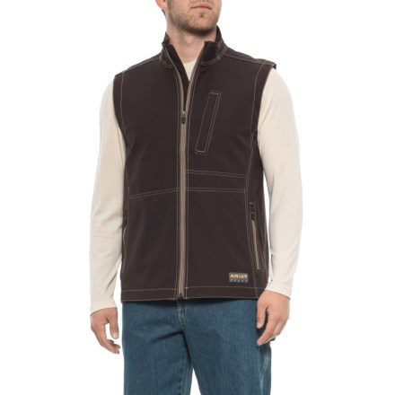 Ariat Rebar Canvas Soft Shell Vest (For Men) in Ganache - Closeouts
