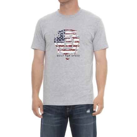 Ariat Relentless Americana T-Shirt - Short Sleeve (For Men) in Heather Gray - Overstock