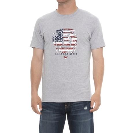 Ariat Relentless Americana T-Shirt - Short Sleeve (For Men) in Heather Gray